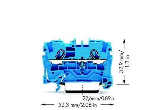 WAGO Prolazna klema za 2 provodnika - Za provodnike 4 mm2 - Nominalna struja 32 A - Centralno i bočno označavanje - Za DIN-šinu 35 x 15 i 35 x 7.5 - 2004-1204