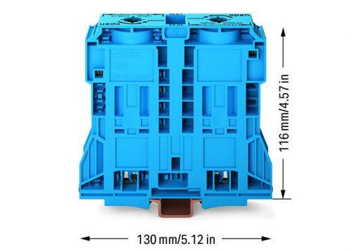 WAGO Visokostrujna klema - za 2-provodnika - 185 mm2 - bočni slotovi za označavanje - Samo za DIN 35 x 15 šinu - 2.3 mm debljine - 285-1184