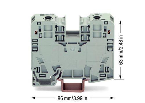 WAGO Visokostrujna klema - za 2-provodnika - 35mm2 - bočni slotovi za označavanje - Samo za DIN 35 x 15 šinu - 3.5 mm debljine - 285-135