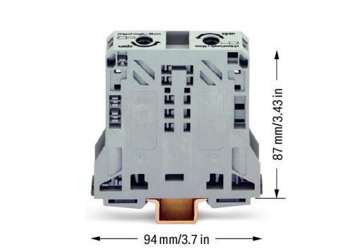 WAGO Visokostrujna klema; za 2-provodnika - 50 mm2 - bočni slotovi za označavanje - Samo za DIN 35 x 15 šinu - 2.3 mm debljine - 285-150