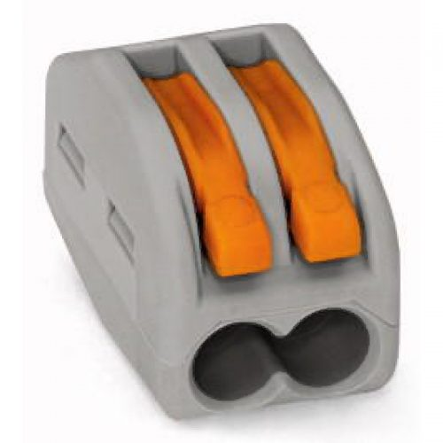 WAGO Kompaktna kratkospojna klema - za 2-provodnika - sa polugama - Maksimalna radna temperatura 85°C - 222-412