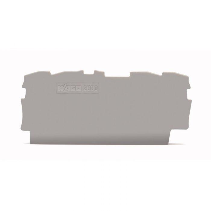 WAGO krajnja i međuploča - debljine 0.7 mm - za kleme sa 4 provodnika - 2000-1491
