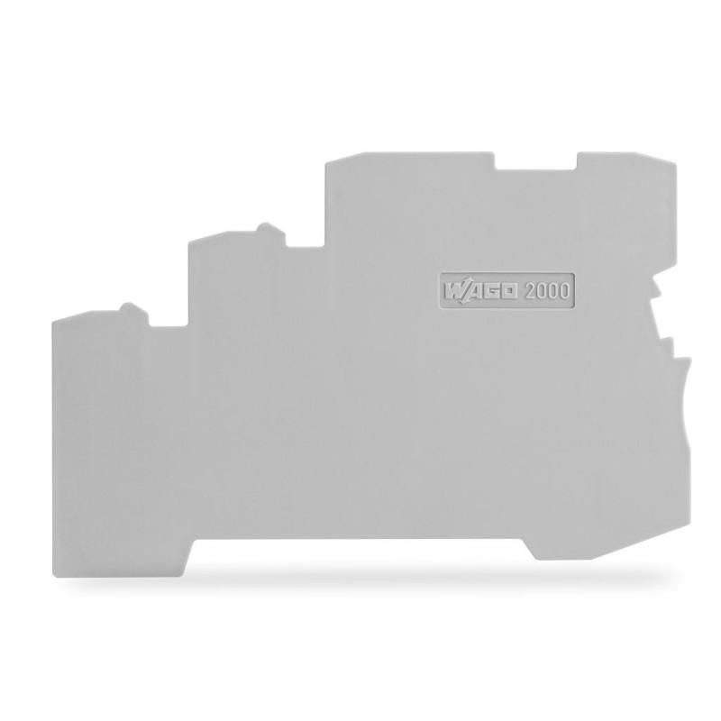 WAGO krajnja i međuploča - debljine 1 mm - za kleme sa 3 provodnika - 2000-5391