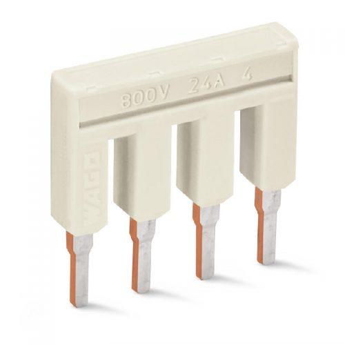 WAGO Kratkospojnik za klemu 2.5 mm2 - Push-in tipa - sa 4 mesta - Nominalna struja 25 A - 2002-404