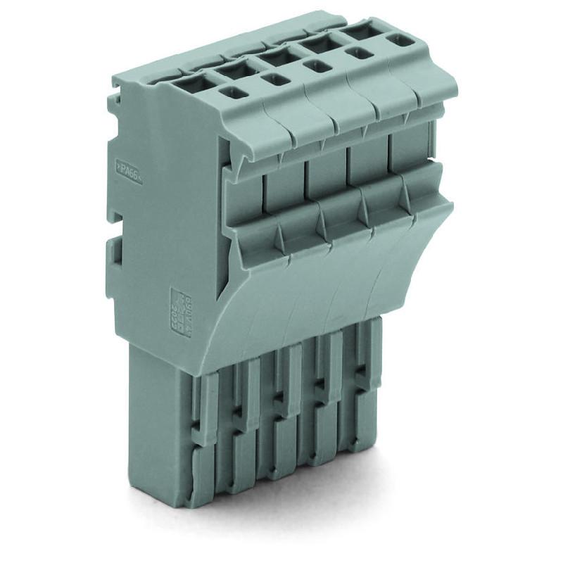 WAGO Priključak-ženski - za 1-provodnik - za provodnike poprečnog preseka 2.5 mm2 - 5-polni - 2022-105