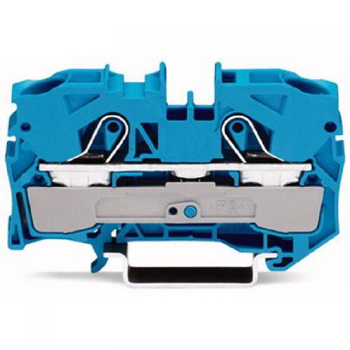 WAGO Prolazna klema za 2 provodnika - Za provodnike 10 mm2 - Nominalna struja 41 A - Centralno i bočno označavanje - Za DIN-šinu 35 x 15 i 35 x 7.5 - 2010-1204