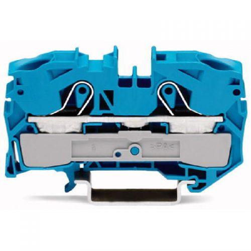 WAGO Prolazna klema za 2 provodnika - Za provodnike 16 mm2 - Nominalna struja 76 A - Centralno i bočno označavanje - Za DIN-šinu 35 x 15 i 35 x 7.5 - 2016-1204