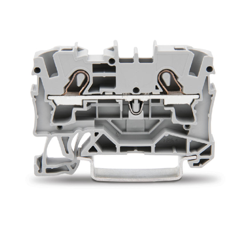 WAGO Prolazna klema za 2 provodnika - Za provodnike 4 mm2 - Nominalna struja 32 A - Centralno i bočno označavanje - Za DIN-šinu 35 x 15 i 35 x 7.5 - 2004-1201