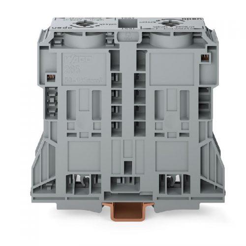 WAGO Visokostrujna klema - za 2-provodnika - 185 mm2 - bočni slotovi za označavanje - Samo za DIN 35 x 15 šinu - 2.3 mm debljine - 285-1185