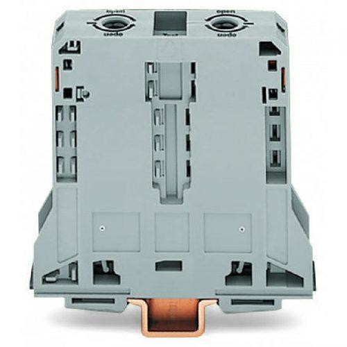 WAGO Visokostrujna klema - za 2-provodnika - 95 mm2 - bočni slotovi za označavanje - Samo za DIN 35 x 15 šinu; 2.3 mm debljine - 285-195