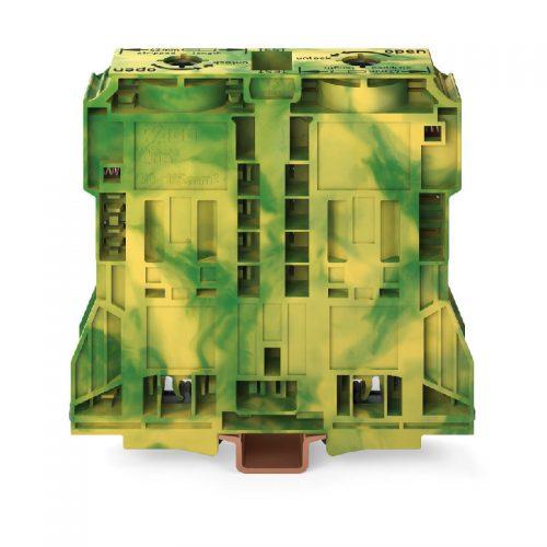 WAGO Visokostrujna klema za uzemljenje - za 2-provodnika - 185 mm2; bočni slotovi za označavanje - Samo za DIN 35 x 15 šinu - 2.3 mm debljine - POWER CAGE CLAMP - 285-1187