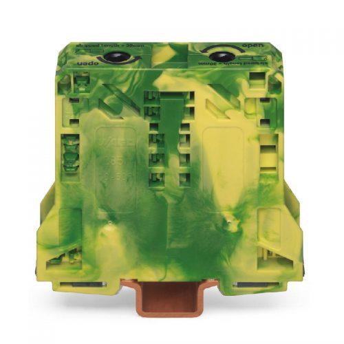 WAGO Visokostrujna klema za uzemljenje - za 2-provodnika - 50 mm2 - bočni slotovi za označavanje - Samo za DIN 35 x 15 šinu - 2.3 mm debljine - 285-157