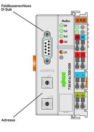 WAGO Kontroler Modbus - RS-232 - 115,2 kBd - 750-816/300-000