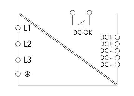 WAGo Svičersko (switched mode) napajanje - EPSITRON® ECO POWER - tro-fazno - 24 VDC / 20 A - DC OK kontakt - 787-742
