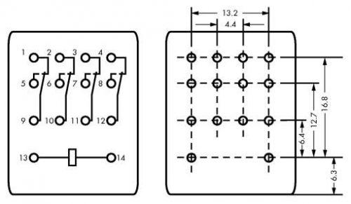 WAGO Priključni industrijski rele - 24 VAC - 858-154