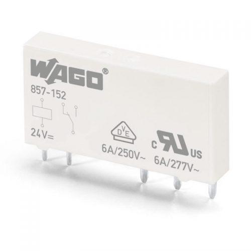 WAGO Priključni minijaturni prekidački rele - 1 preklopni kontakt - 24 VDC - 857-152