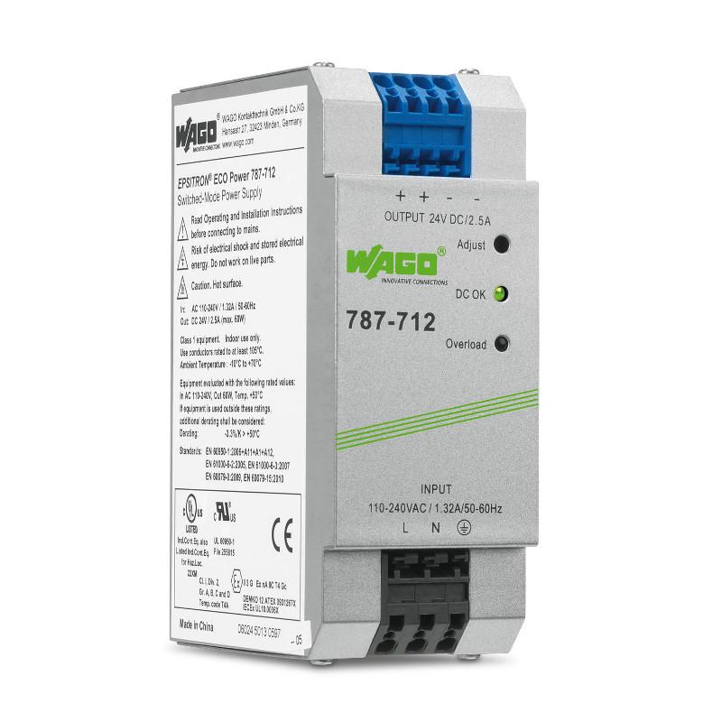 WAGO Svičersko (switched mode) napajanje - EPSITRON® ECO POWER - mono-fazno - 24 VDC - 2.5 A - 787-712