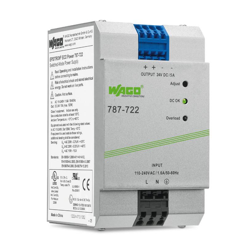 WAGO Svičersko (switched mode) napajanje - EPSITRON® ECO POWER - mono-fazno - 24 VDC - 5 A - 787-722